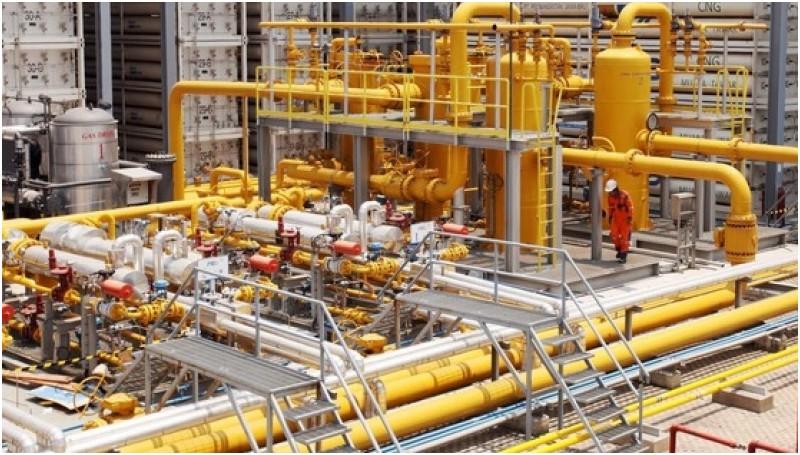 Ilustrasi kilang gas di Indonesia