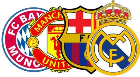 Bayern, Madrid, Barça y United se quedan con los ingresos del fútbol