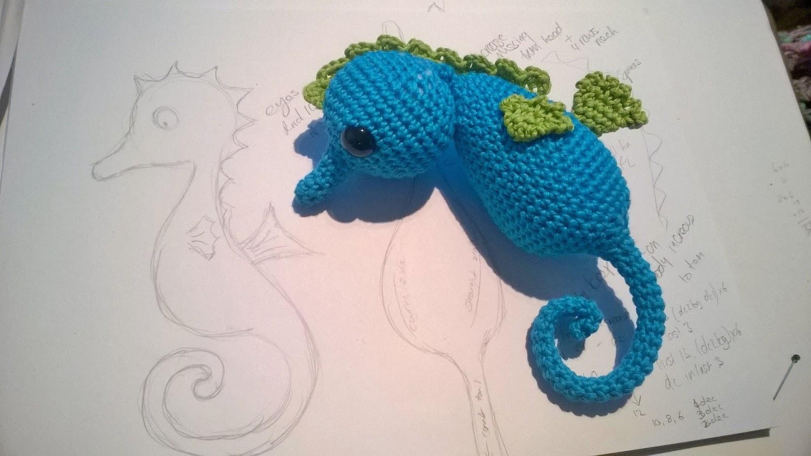 Seahorse Crochet Pattern | Kostenlose häkelmuster, Häkelanleitung ... | 900x1600