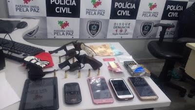 Preso grupo criminoso responsável por tráfico, homicídios e roubo em bairro nobre de Campina Grande