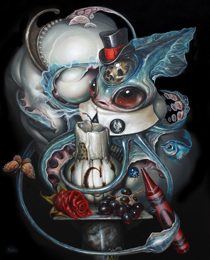 19-In-With-the-Tide-Greg-Craola-Simkins-Fantastical-Surreal-Paintings-Full-of-Details