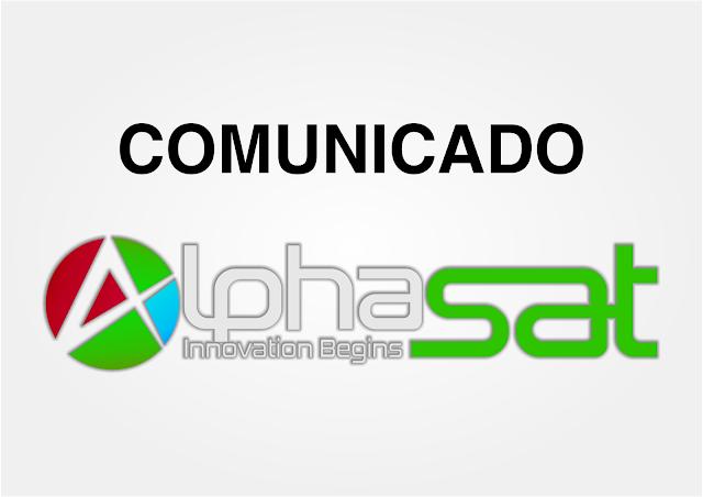 Comunicado Alphasat Informação sobre Manutenção - 08/09/2020