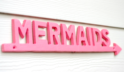 Mermaid Arrow Sign