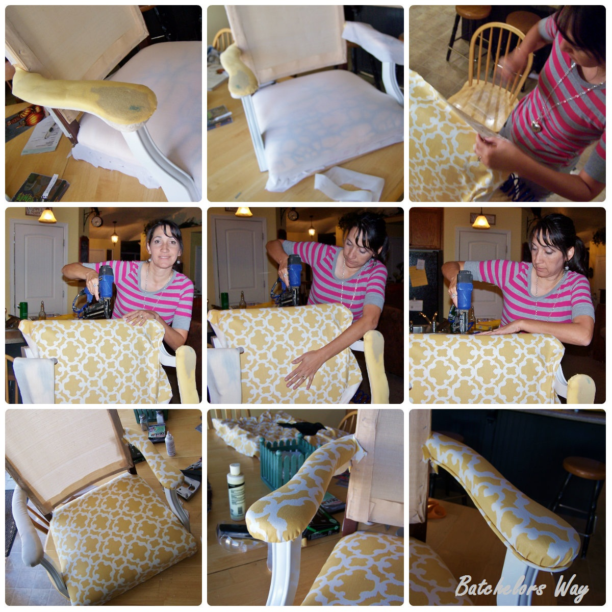 Reupholster Office Chair With Arms Best Hunting Batchelors Way Redo How To A