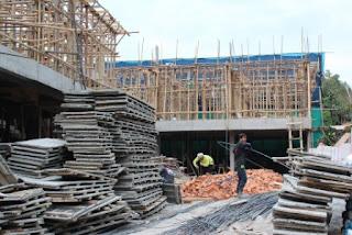 scaffolding kayu, perancah, scaffold, perancah pembangunan gedung