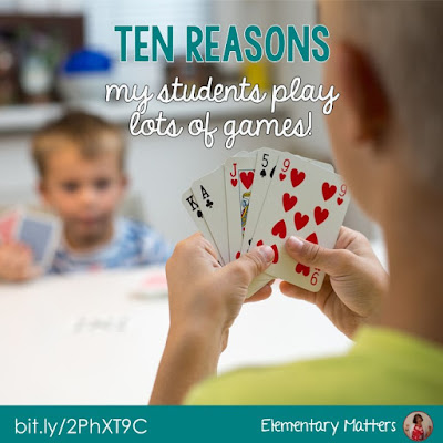 Ten Reasons My Students Play Lots of Games - This post gives reasons based on brain research on why students should be playing games in the classroom.