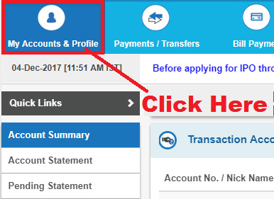 how to update email id in sbi account online