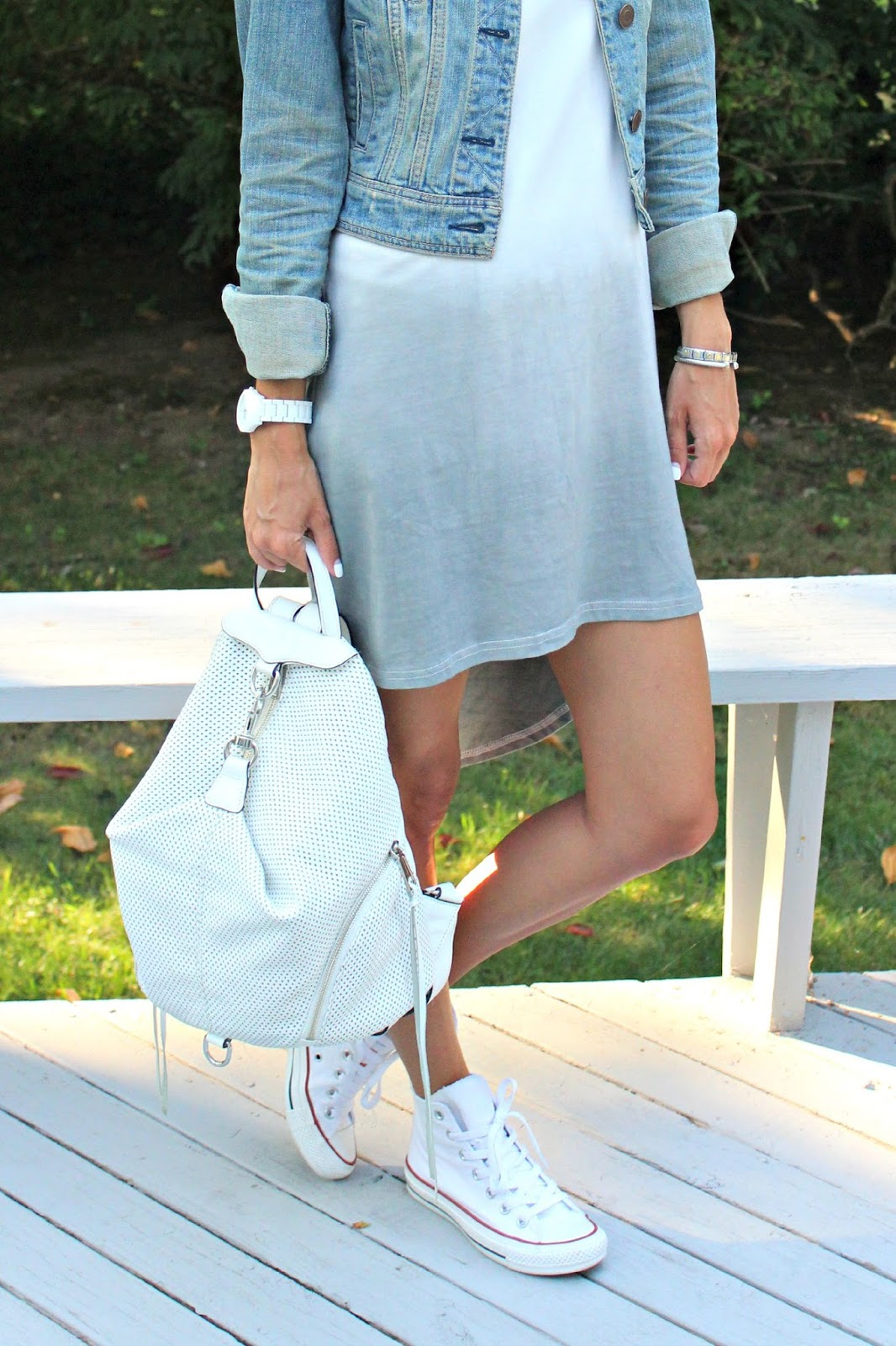 white rebecca minkoff backpack