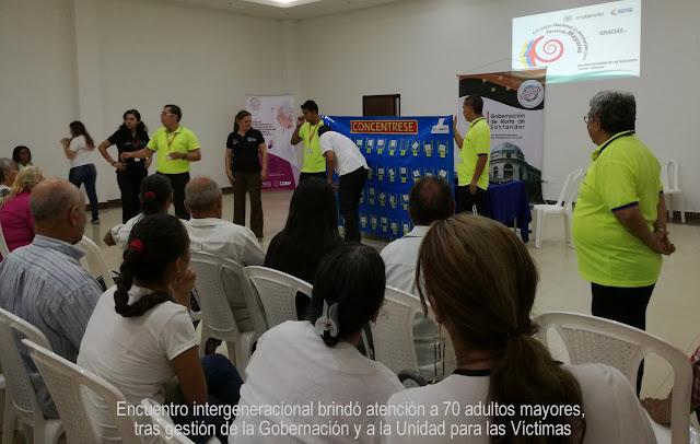 Gobernación NdeS y Unidad para las Víctimas propician encuentro intergeneracional de atención a 70 adultos mayores #RSY #OngCF