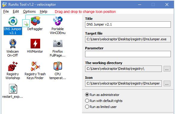 RunAsTool ادأة لتشغيل البرامج بصلاحيات admin بدون ادخال كلمة المرور