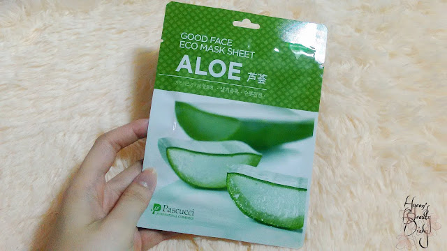 Review; Pascucci's Good Face Eco Mask Sheet Aloe
