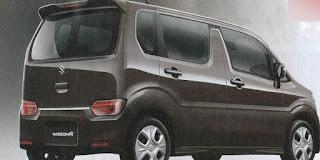Bagian belakang Desain Suzuki Wagon R 2017 terlihat lebih segar dan facelift.