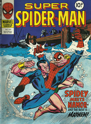 Super Spider-Man #277, vs the Sub-Mariner, Gil Kane pencils, art