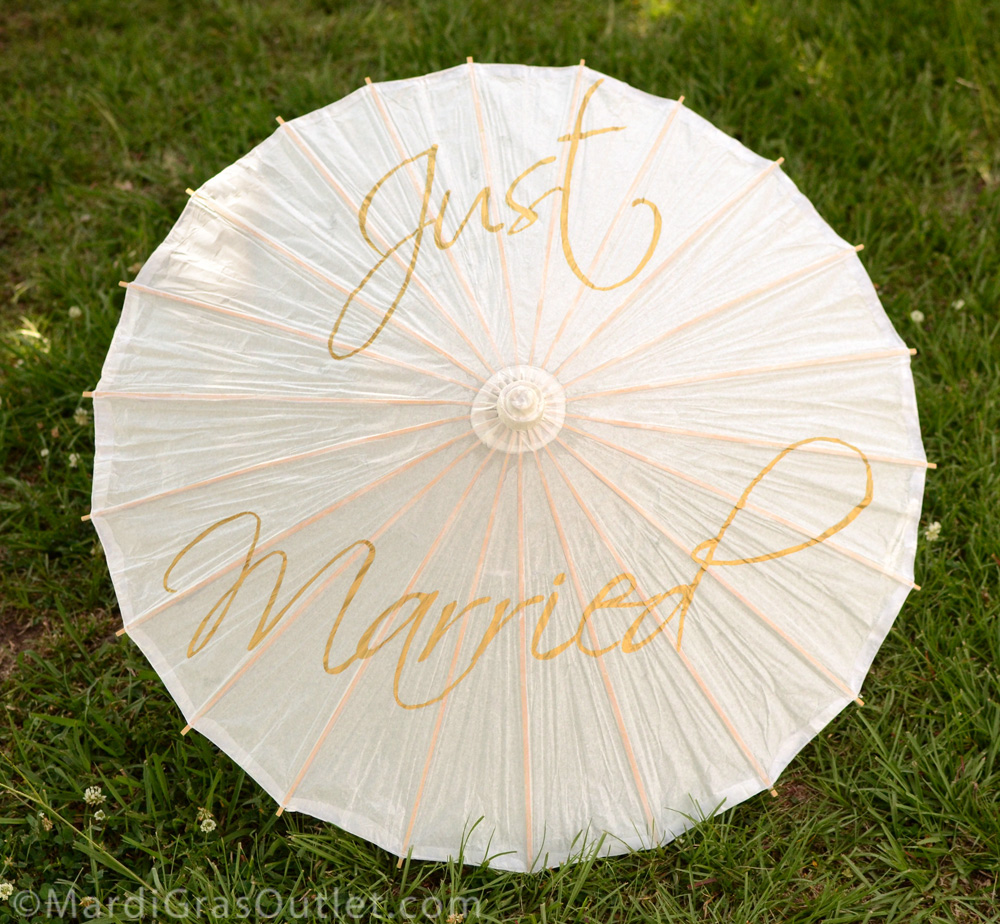 Party Ideas By Mardi Gras Outlet Diy Personalized Wedding Parasol