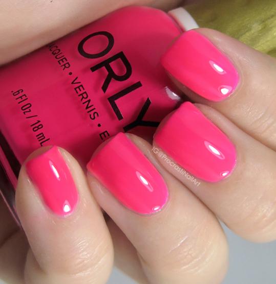 ORLY Va Va Voom Neon Pink Swatch