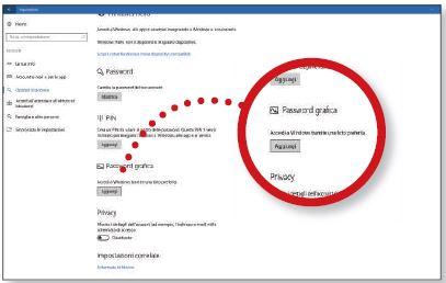 Impostiamo la password grafica in Windows 10