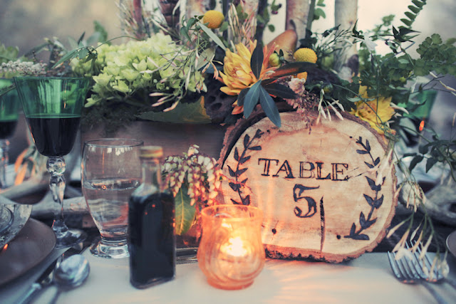 bride+groom+bridal+dress+gown+floral+hair+wreath+rustic+woodland+ecofriendly+eco+friendly+green+emerald+color+of+the+year+pantone+cake+dessert+table+reception+centerpiece+blue+hipster+fall+autumn+gideon+photography+48 - Woodland Fairytale