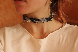 jean braided choker