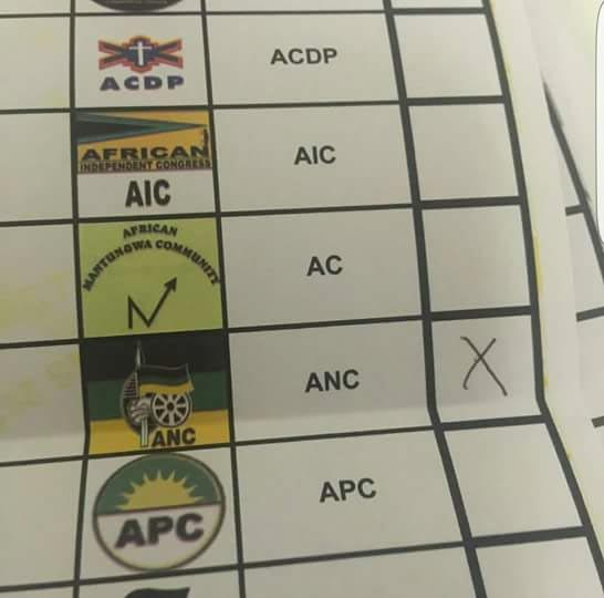South Africans also have a political party called APC