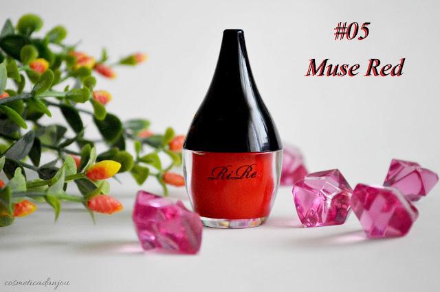 muse red RIRE Lip Manicure High Fix set