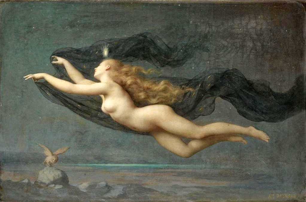 La Nuit Auguste Raynaud, French, 1854 - 1937 Painting image & history via Sotheby's Auction House