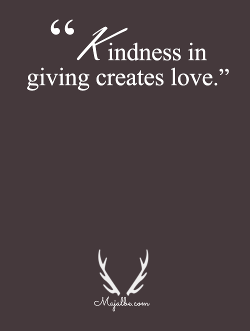 Kindness In Giving