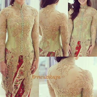 model kebaya simple modern terbaru