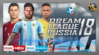 Download Game Dream League Soccer (DLS) Mod Piala Dunia 2018 APK + DATA