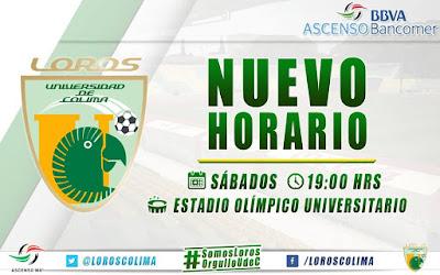 Nuevo Horario Loros Universidad Colima