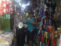 Antisipasi Kejahatan, Polres Rembang Berikan Imbauan Kamtibmas di Pasar Tradisional
