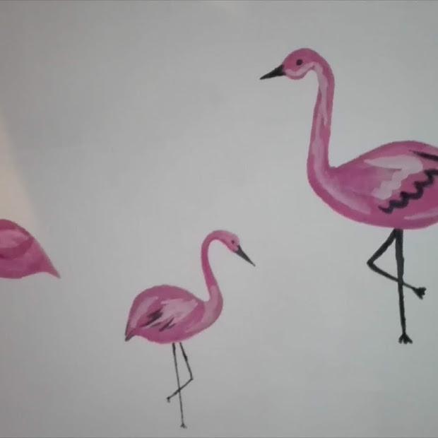 DIY: Flamingi na ścianie