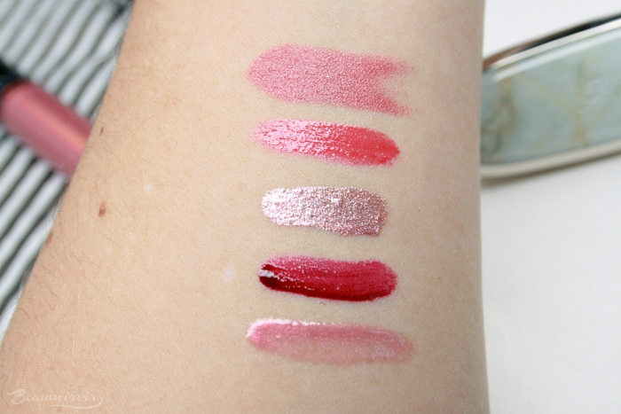 swatches guerlain rouge g 06 dior addict plump lacquer diorly platinum ysl volupte liquid color balm grab me red lancome prismatic plum lip gloss passion glow