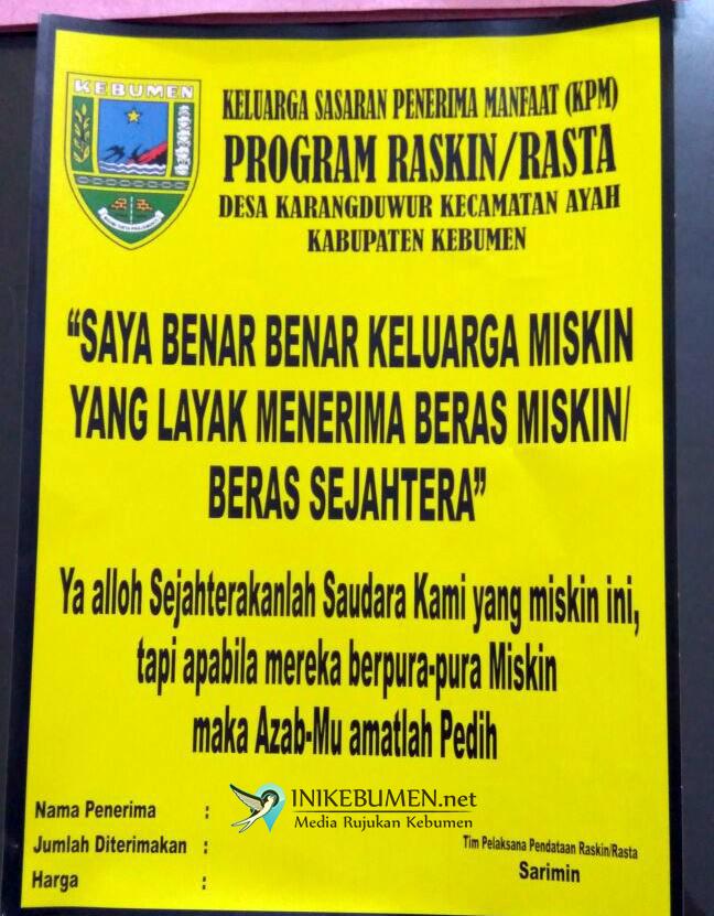 Tiru Stiker Banyumudal, Penerima Rastra di Karangduwur Turun Drastis