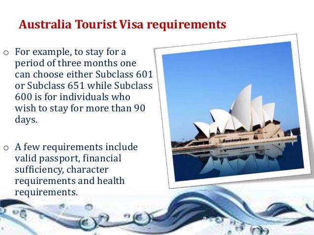 Australian Tourist Visa Requirements