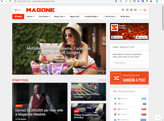 Chia sẻ Template Blog MagOne