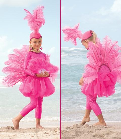 disfraz flamenco rosa