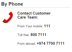 vodafone customer care number contact help line service toll free qatar