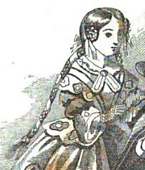 Girl with Macaroon Tresses, Graham's Magazine 1856