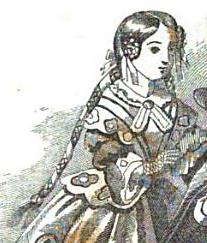 Girl with Macaroon Tresses, Graham's Magazine 1856