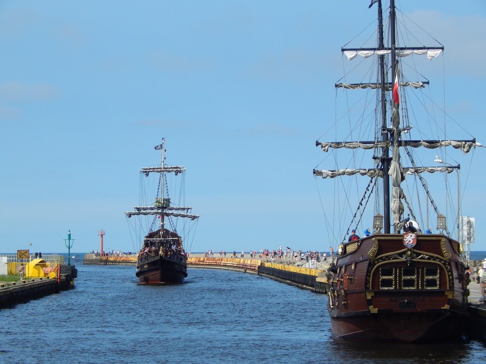 Darlowo pirátské výletní lodě