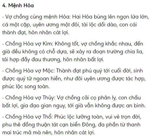 Menh Hoa