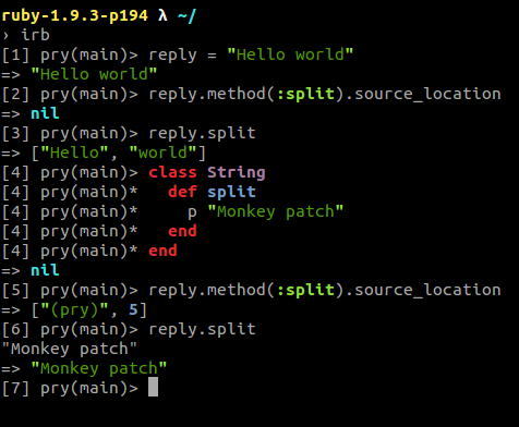 Ruby : check whether method is monkey patched or not