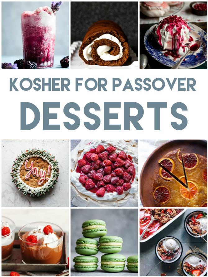 Kosher for Passover Dessert Recipe Roundup | Land of Honey