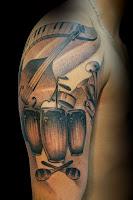 tatuajes de instrumentos musicales de salsa