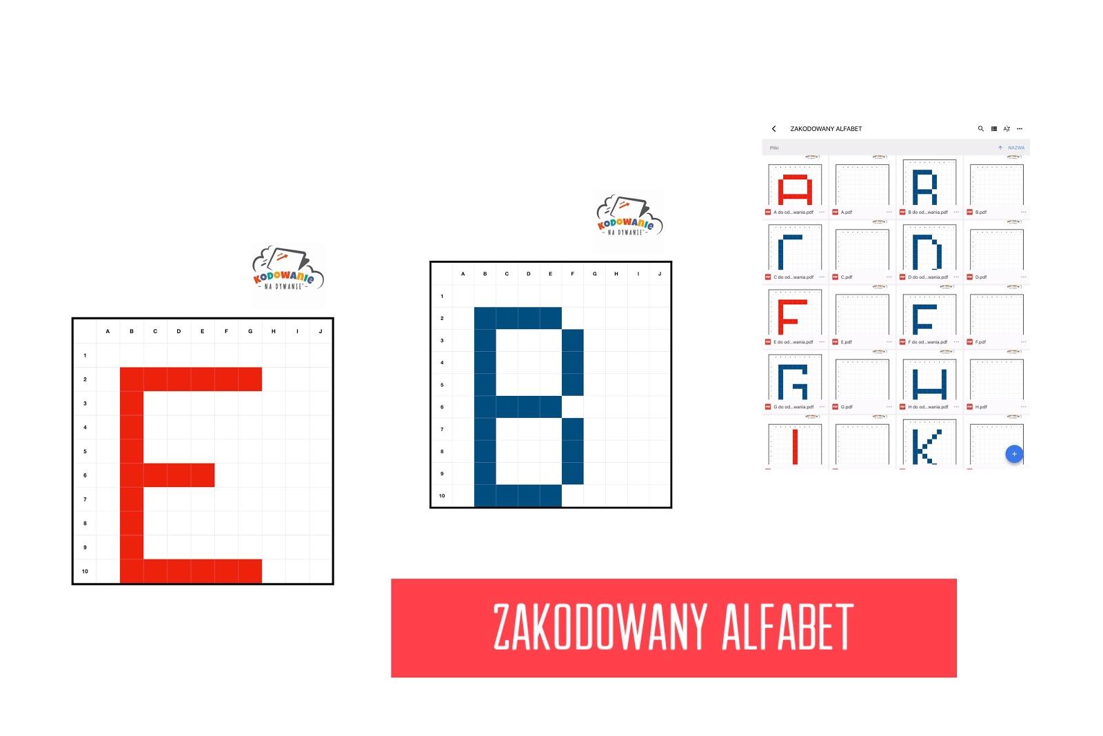 Zakodowany Alfabet Kodowanie Na Dywanie