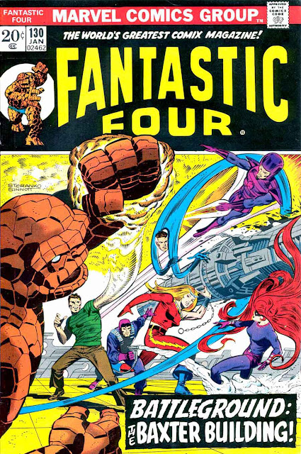 Fantastc Four v1 #130 marvel comic book cover art by Jim Steranko