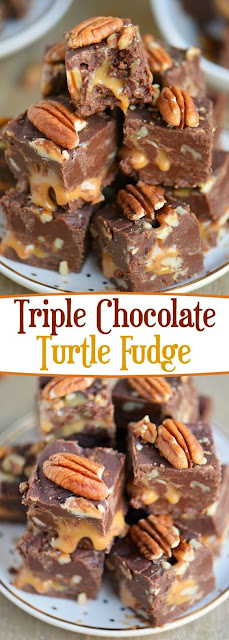 Triple Chocolate Turtle Fudge Recipe