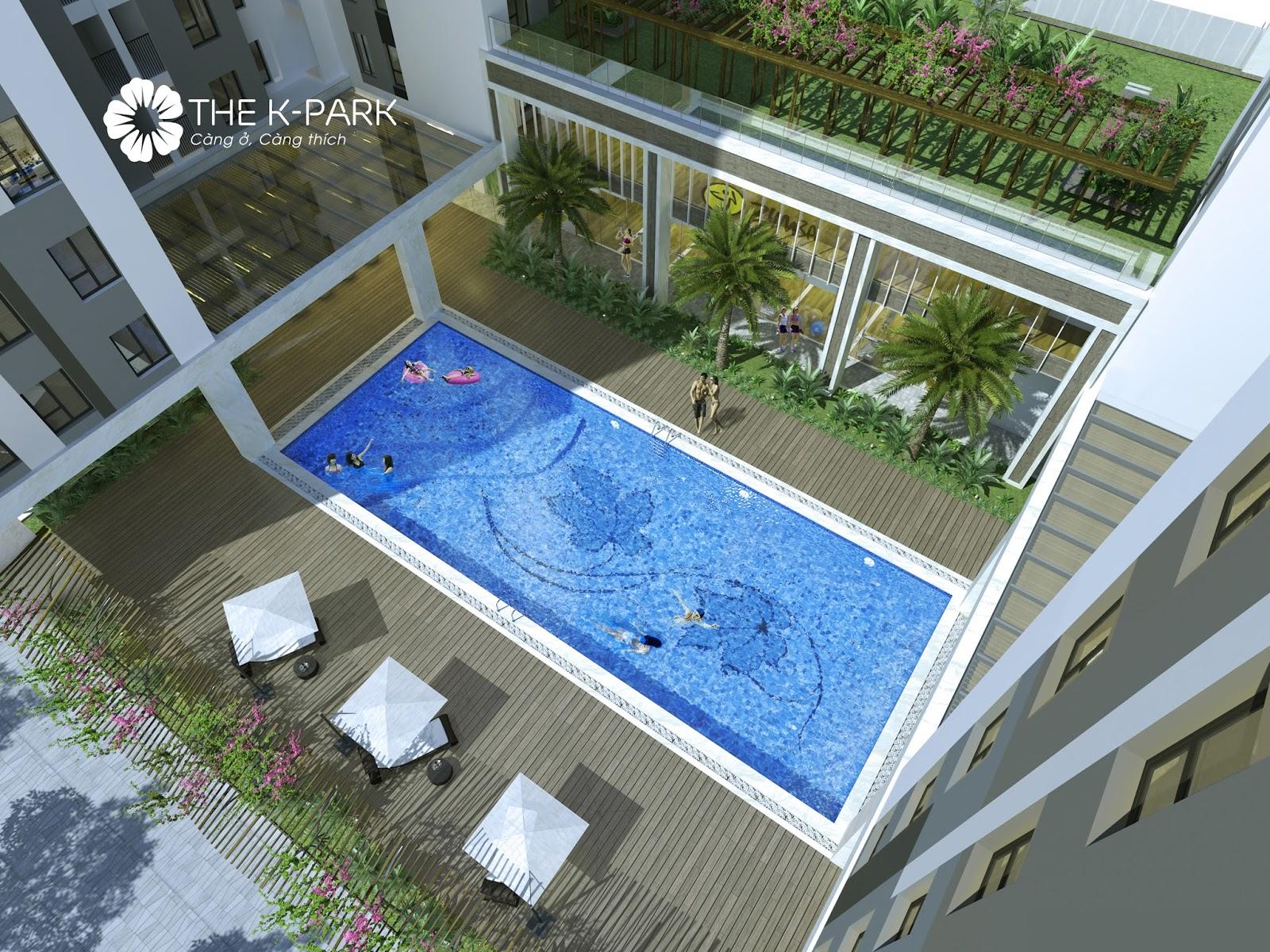 Bể Bơi ngoài trời cùng thiết kế sân vườn