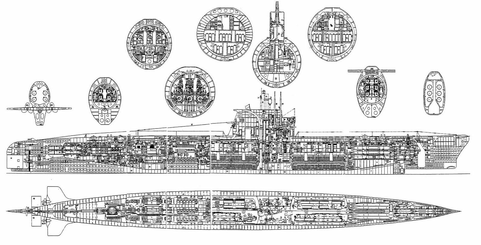 zulu classe submarine [ 1600 x 816 Pixel ]