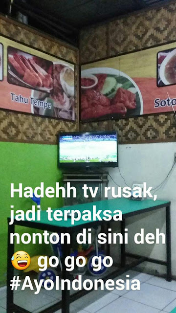 nonton bareng final aff suzuki cup 2016 indonesia vs thailand, rumah makan ayam bakar pamulang, ayam bakar pamulang, nobar di tangsel